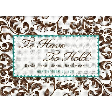 Treasured Words Wedding Record Mini Counted Cross Stitch Kit, 7