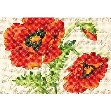 Poppy Pair Mini Counted Cross Stitch Kit, 7