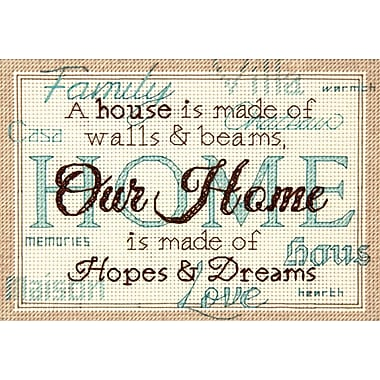 Home Mini Counted Cross Stitch Kit, 7