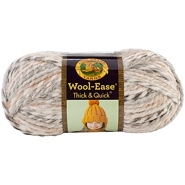 Wool-Ease Thick & Quick Yarn, Sandstone Stripes