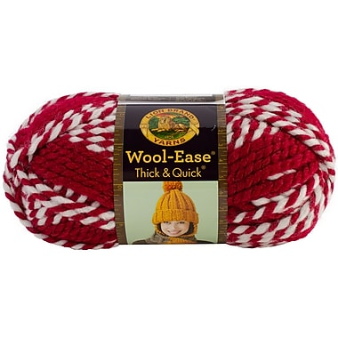 Wool-Ease Thick & Quick Yarn, Crimson Stripes