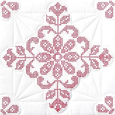 Stamped White Quilt Blocks 18