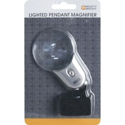 Mighty Bright Pendant LED Magnifier, Silver