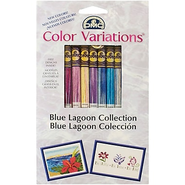 DMC Color Variations Floss Pack, Blue Lagoon