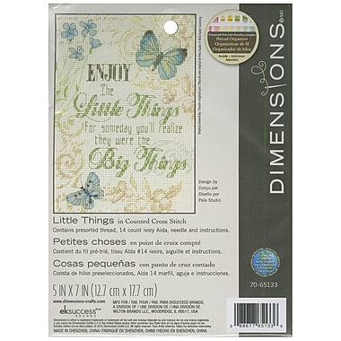 Little Things Mini Counted Cross Stitch Kit, 5