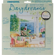 "Daydreams Beach Tranquility Counted Cross Stitch Kit, 8""X8"" 18 Count"