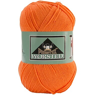 Phentex Worsted Solids Yarn, Tangerine