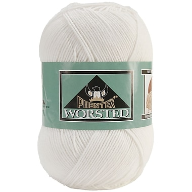 Phentex Worsted Solids Yarn, White