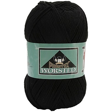 Phentex Worsted Solids Yarn, Black