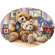 """Gold Collection Petite Warm & Fuzzy Counted Cross Stitch Kit, 7""""X5"""" 18 Count"""