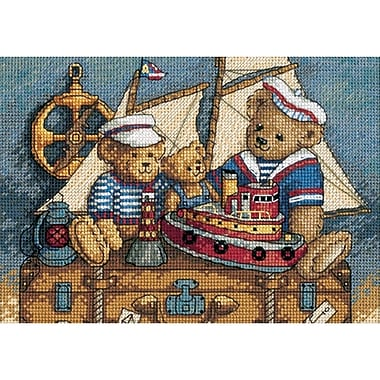 Gold Collection Petite Ahoy! Bears Counted Cross Stitch Kit, 7