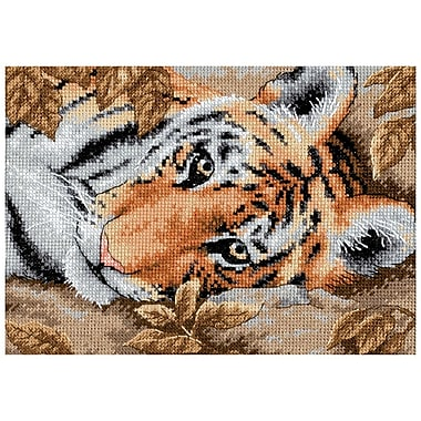 Gold Collection Petite Beguiling Tiger Counted Cross Stitch Kit, 7
