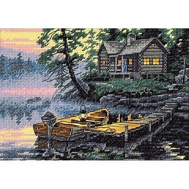 Gold Collection Petite Morning Lake Counted Cross Stitch Kit, 7