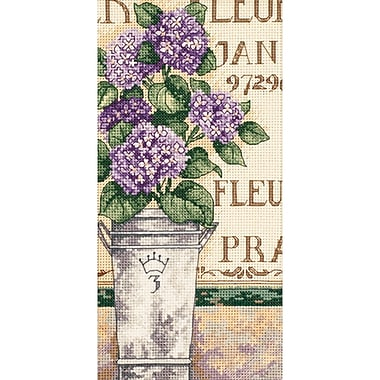 Gold Collection Petite Hydrangea Floral Counted Cross Stitch Kit, 4
