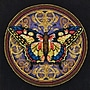 Gold Collection Petite Ornate Butterfly Counted Cross Stitch