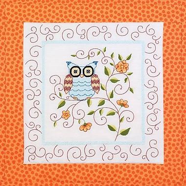 Owl Quilt Blocks Stamped Cross Stitch Kit, 15