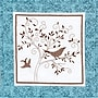 Bird Silhouette Quilt Blocks Stamped Cross Stitch Kit,