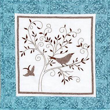 Bird Silhouette Quilt Blocks Stamped Cross Stitch Kit, 15