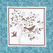 "Bird Silhouette Quilt Blocks Stamped Cross Stitch Kit, 15""X15"" 6/Pkg"