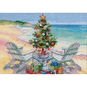 "Gold Collection Petite Christmas On The Beach Counted Cross -7""X5"" 18 Count"