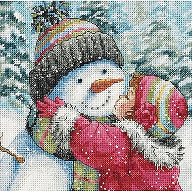 Gold Collection Petite A Kiss For Snowman Counted Cross Stit-6