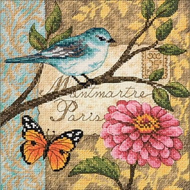 Gold Collection Petite Bird Poste Counted Cross Stitch Kit, 6