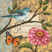 "Gold Collection Petite Bird Poste Counted Cross Stitch Kit, 6""X6"" 18 Count"