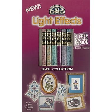DMC Light Effects Floss Pack, Soft Jewels