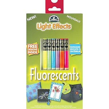 DMC Light Effects Floss Pack, Fluorescent