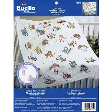Stamped Cross Stitch Baby Quilt Top 34