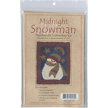 Midnight Snowman Punch Needle Kit, 3