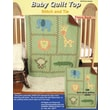 Stamped Baby Quilt Top 36in.X42in., Zoo Animals , Green Fabric