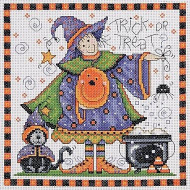 Trick Or Treat Counted Cross Stitch Kit, 8