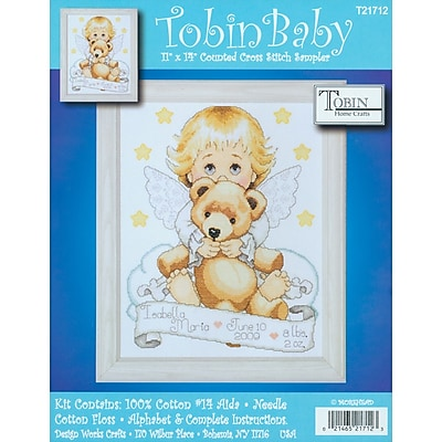"""""Angel Birth Record Counted Cross Stitch Kit, 11""""""""X14"""""""" 14 Count"""""" 31248"