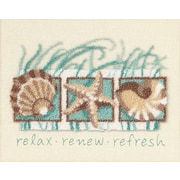 "Seashells Punch Needle Kit, 8""X10"""