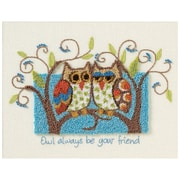 "Owl Always Be Your Friend Punch Needle Kit, 10""X8"""