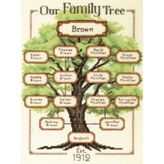 "Our Family-Family Tree Counted Cross Stitch Kit, 9""X12"" 14 Count"