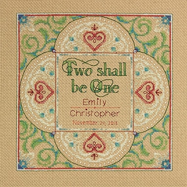 Two As One Wedding Record Counted Cross Stitch Kit, 10