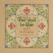 "Two As One Wedding Record Counted Cross Stitch Kit, 10""X10"" 14 Count"