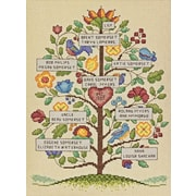 "Vintage Family Tree Counted Cross Stitch Kit, 9""X12"" 14 Count"