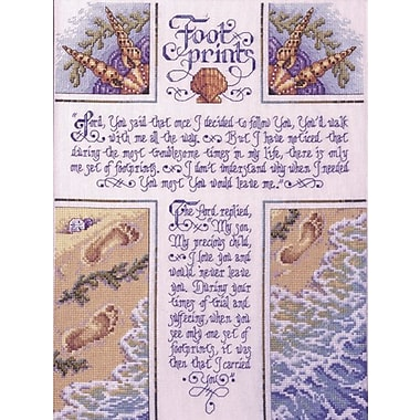Footprints Counted Cross Stitch Kit, 10-1/2