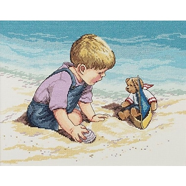 Seashore Fun Counted Cross Stitch Kit, 13-3/4