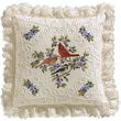 """Birds And Berries Candlewicking Embroidery Kit, 14""""X14"""""""