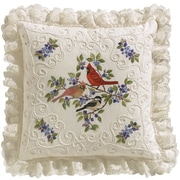 "Birds And Berries Candlewicking Embroidery Kit, 14""X14"""