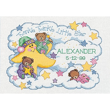 Twinkle Twinkle Birth Record Counted Cross Stitch Kit, 14
