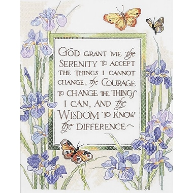 God Grant Me Serenity Stamped Cross Stitch Kit, 11
