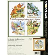 "A Season For Everything Stamped Cross Stitch Kit, 14""X14"""