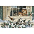 Three Bird Watchers Counted Cross Stitch Kit, 14in.X9in. 18 Count
