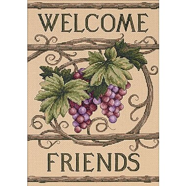 Welcome Friends Counted Cross Stitch Kit, 10
