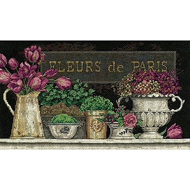 Fleurs De Paris Counted Cross Stitch Kit, 14